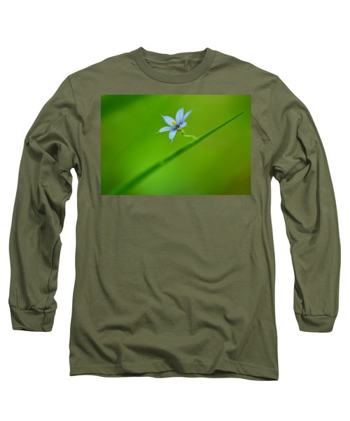 Long Sleeve T-Shirt featuring the photograph Blue-eyed Grass by JD Grimes