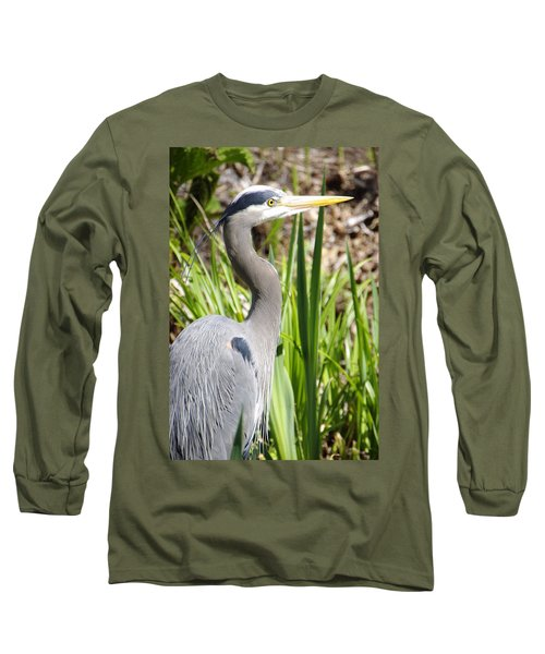 Long Sleeve T-Shirt featuring the photograph Blue Heron by Marilyn Wilson