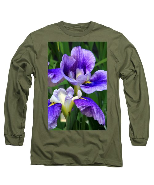 Blue Irises Long Sleeve T-Shirt