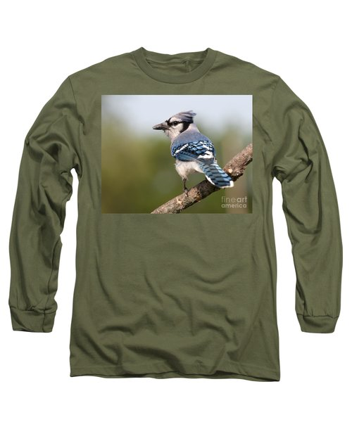 Long Sleeve T-Shirt featuring the photograph Blue Jay by Art Whitton