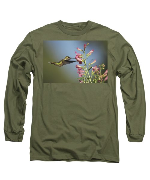 Broad Tailed Hummingbird Juvenile Long Sleeve T-Shirt
