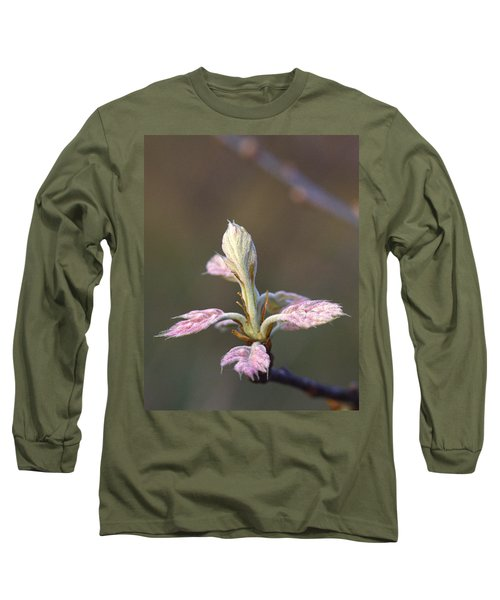 Budding Oak Leaves Long Sleeve T-Shirt