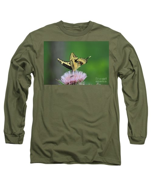 Long Sleeve T-Shirt featuring the photograph Butterflies Are Free by Kathy  White