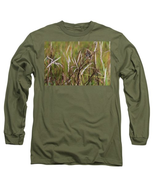 Long Sleeve T-Shirt featuring the photograph Butterfly In Flight by Fotosas Photography