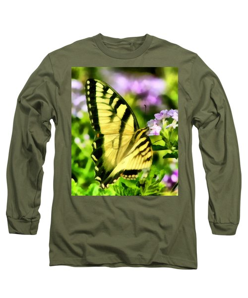 Long Sleeve T-Shirt featuring the painting Butterfly by Lynne Jenkins
