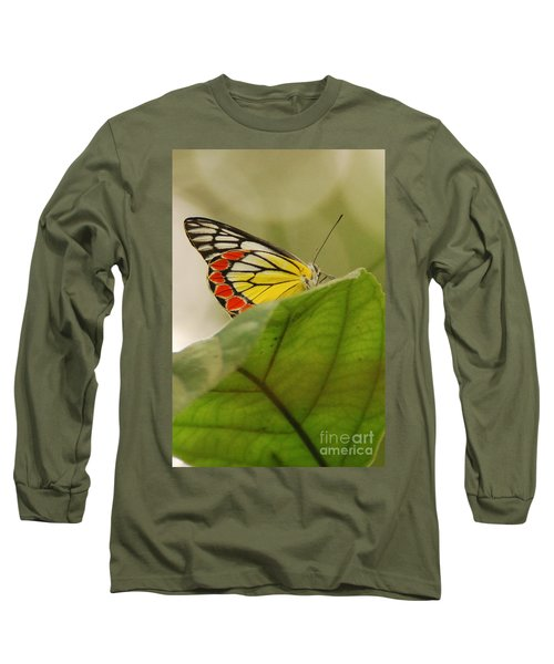 Long Sleeve T-Shirt featuring the photograph Butterfly Resting by Fotosas Photography