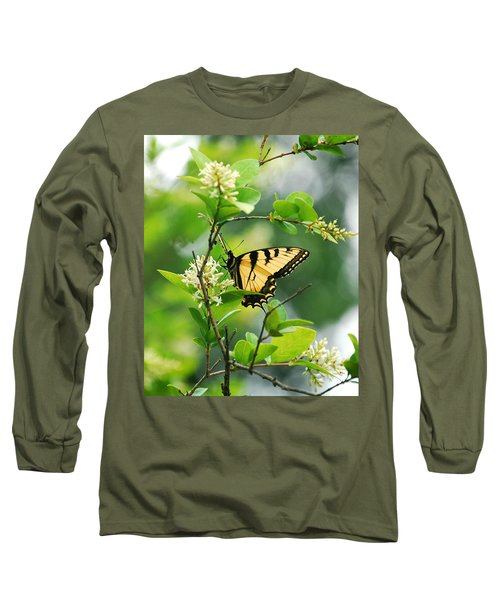 Long Sleeve T-Shirt featuring the photograph Butterfly Tiger Swallow by Peggy Franz