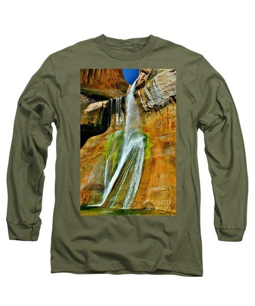 Calf Creek Falls II Long Sleeve T-Shirt by Ellen Heaverlo