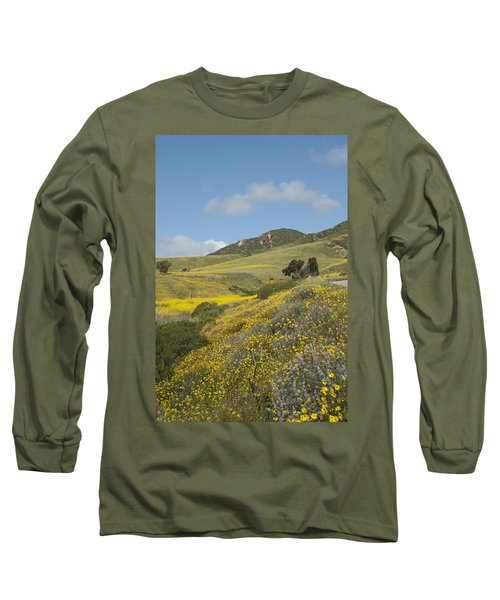 California Hillside View I Long Sleeve T-Shirt by Kathleen Grace