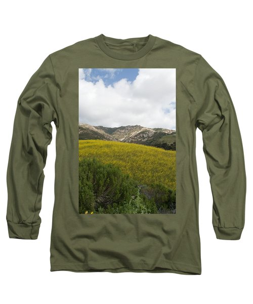 California Hillside View V Long Sleeve T-Shirt