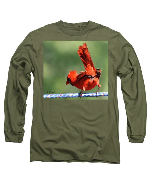Cardinal-a Picture Is Worth A Thousand Words Long Sleeve T-Shirt