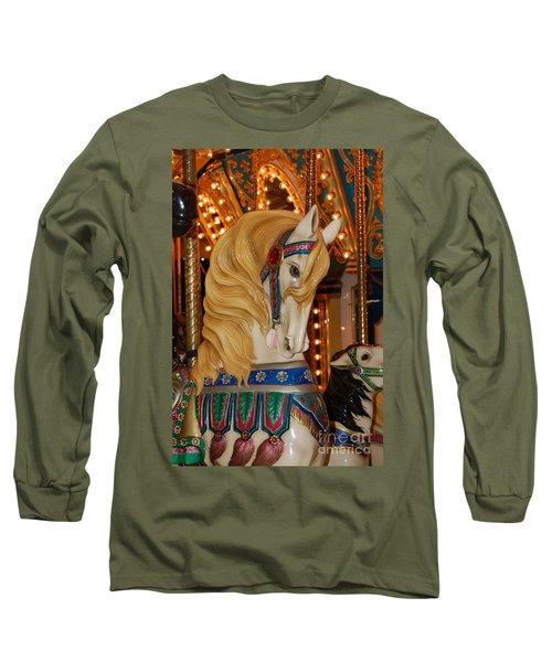 Carousel Horse Golden Mane Long Sleeve T-Shirt