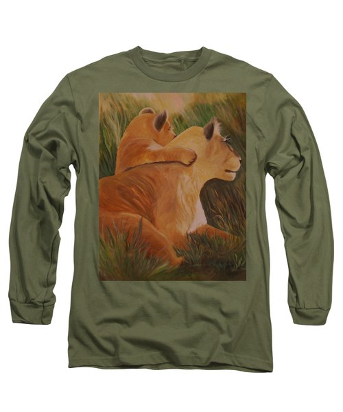 Cat Family Long Sleeve T-Shirt by Christy Saunders Church