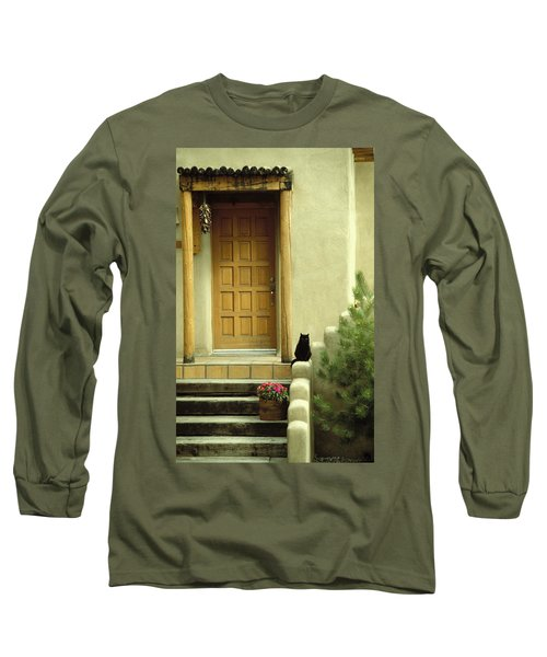 Cat Post Long Sleeve T-Shirt by Brent L Ander