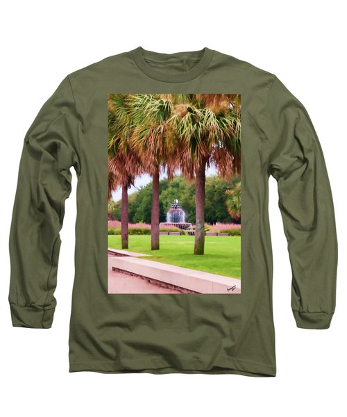 Charleston Pineapple Fountain Long Sleeve T-Shirt