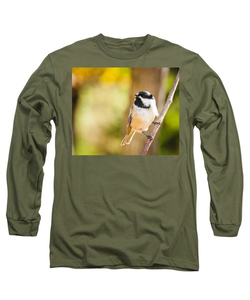 Long Sleeve T-Shirt featuring the photograph Chickadee by Cheryl Baxter