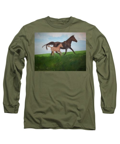 Long Sleeve T-Shirt featuring the painting Chloe's Dream by George Pedro