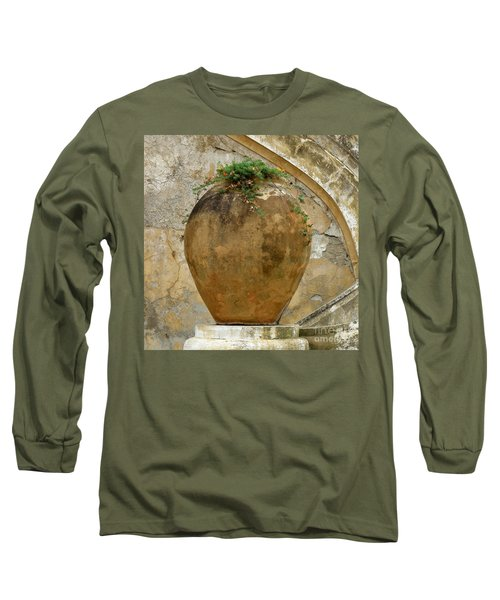 Long Sleeve T-Shirt featuring the photograph Clay Pot by Lainie Wrightson