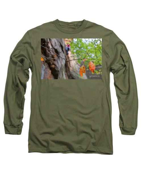 Climber In Fall Long Sleeve T-Shirt