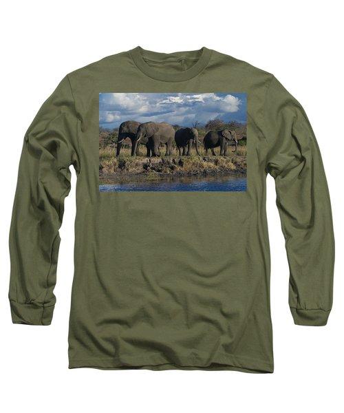 Clouds And Elephants Long Sleeve T-Shirt