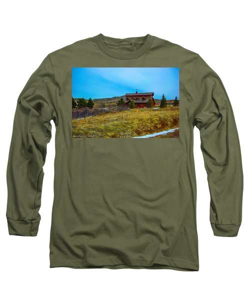 Long Sleeve T-Shirt featuring the photograph Co. Farm by Shannon Harrington