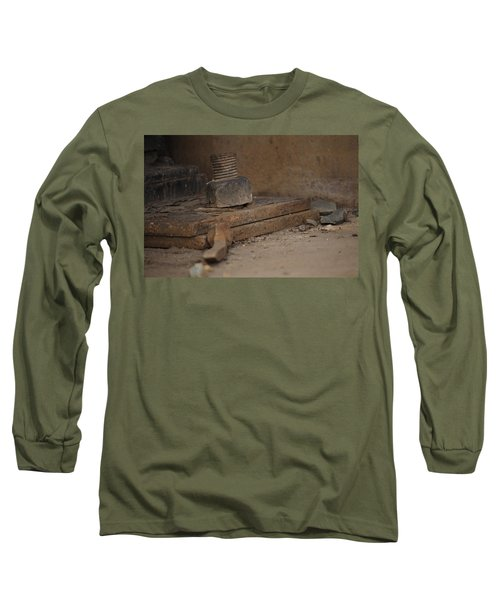 Long Sleeve T-Shirt featuring the photograph Color Of Steel 1 by Fran Riley