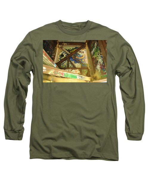 Long Sleeve T-Shirt featuring the photograph Color Of Steel 8 by Fran Riley