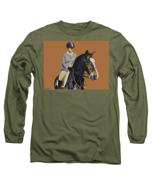 Concentration - Hunter Jumper Horse And Rider Long Sleeve T-Shirt