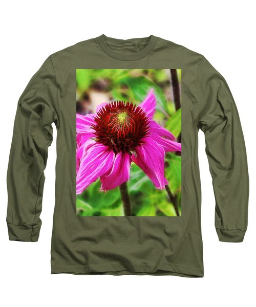 Coneflower Long Sleeve T-Shirt by Judi Bagwell