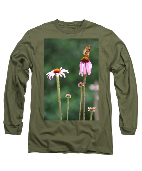 Coneflowers And Butterfly Long Sleeve T-Shirt