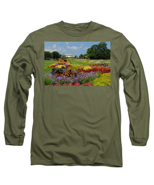 Long Sleeve T-Shirt featuring the photograph Conservatory Gardens by Lynn Bauer