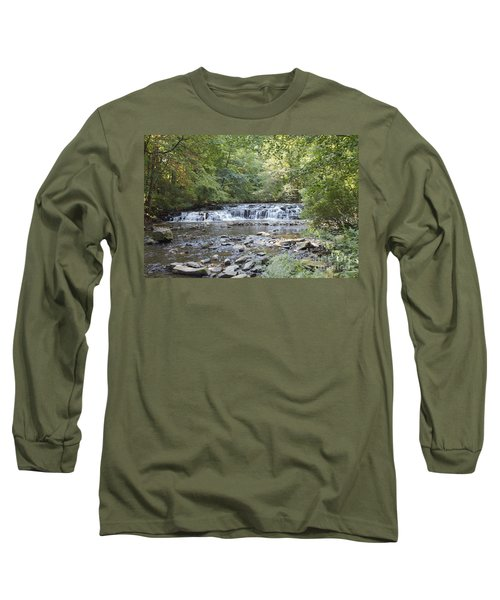 Long Sleeve T-Shirt featuring the photograph Corbetts Glen Waterfall by William Norton