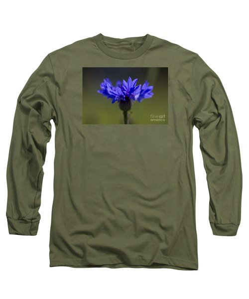 Cornflower Blue Long Sleeve T-Shirt by Clare Bambers