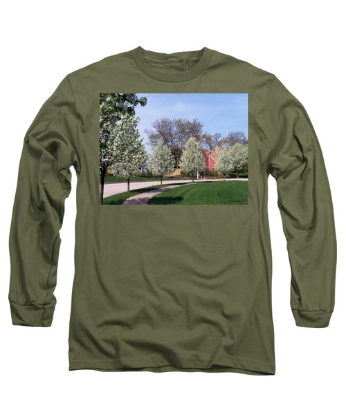 Long Sleeve T-Shirt featuring the photograph Crab Apple Trees by Cynthia Amaral
