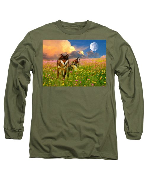 Cry At The Moon Long Sleeve T-Shirt