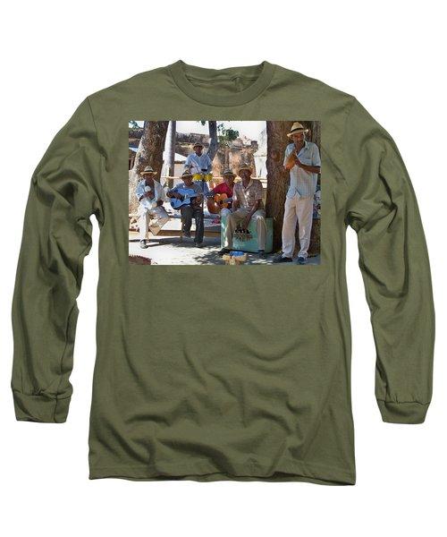 Long Sleeve T-Shirt featuring the photograph Cuban Band by Lynn Bolt