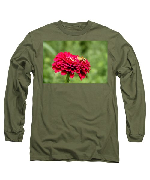 Long Sleeve T-Shirt featuring the photograph Dahlia's Moth by Elizabeth Winter