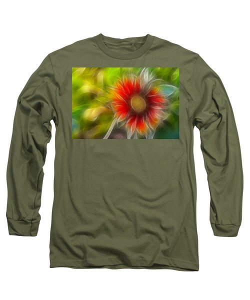 Dalia Pseudo Fractal Long Sleeve T-Shirt by Lynne Jenkins