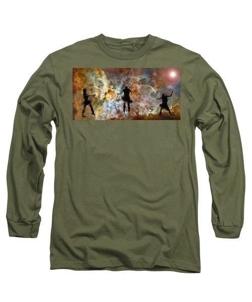 Dancing Nebula Long Sleeve T-Shirt