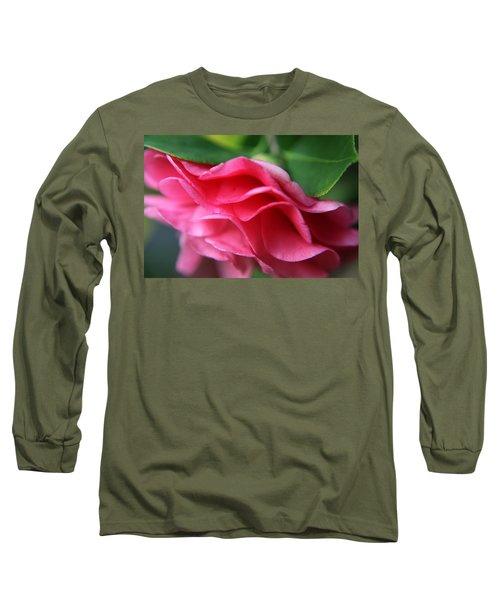 Dancing Petals Of The Camellia Long Sleeve T-Shirt