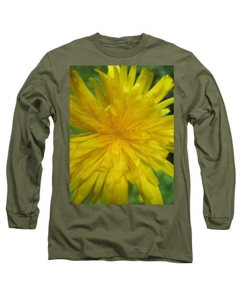Long Sleeve T-Shirt featuring the photograph Dandelion Close Up by Kym Backland