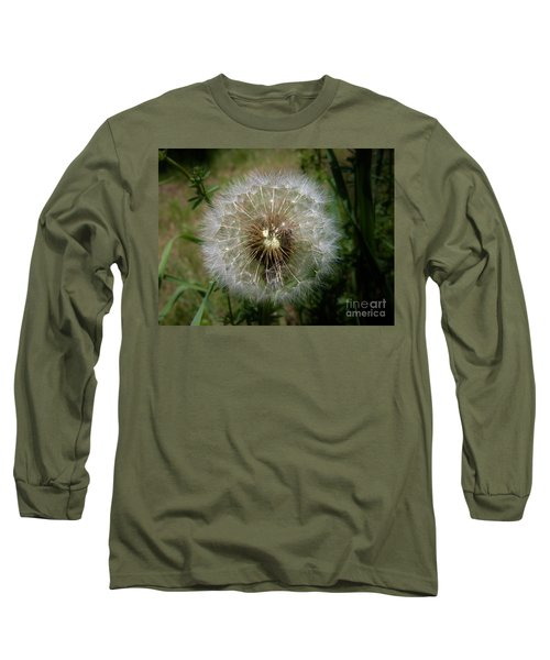 Long Sleeve T-Shirt featuring the photograph Dandelion Going To Seed by Sherman Perry
