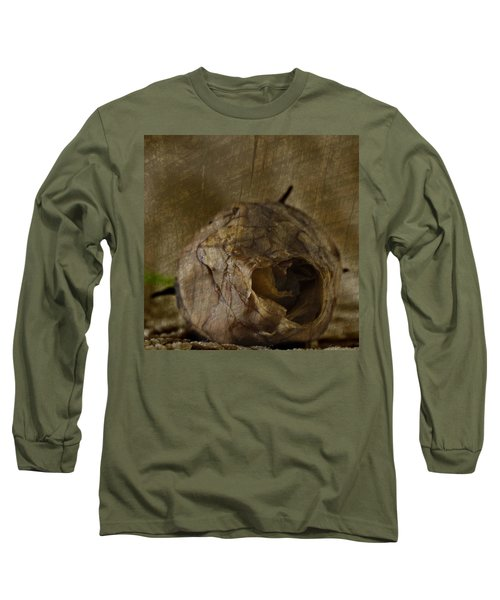 Long Sleeve T-Shirt featuring the photograph Dead Rosebud by Steve Purnell