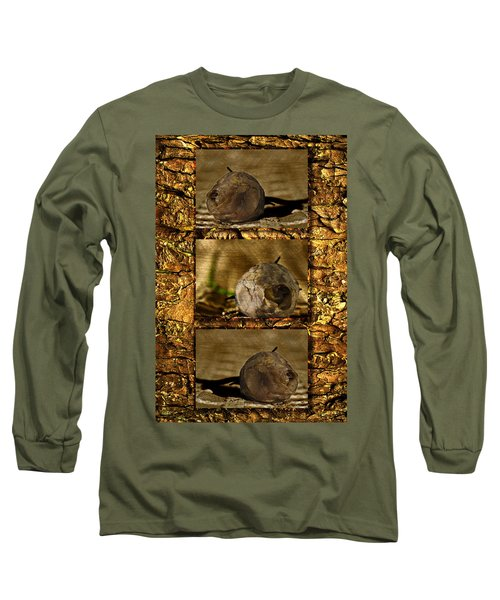 Long Sleeve T-Shirt featuring the photograph Dead Rosebud Triptych by Steve Purnell