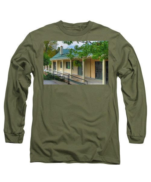 Long Sleeve T-Shirt featuring the photograph Delaware Park Casino by Michael Frank Jr