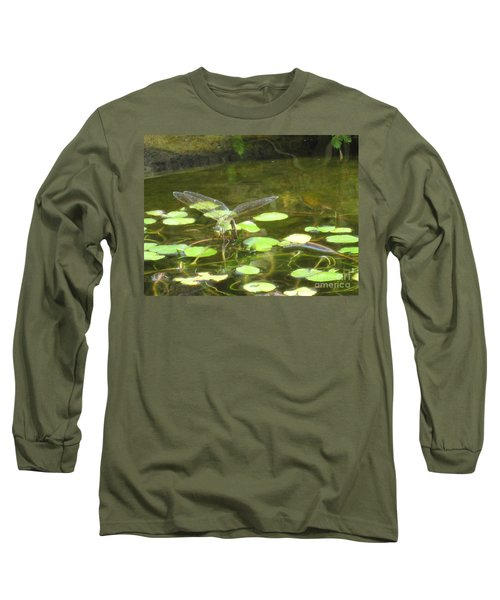 Dragonfly Long Sleeve T-Shirt by Laurianna Taylor