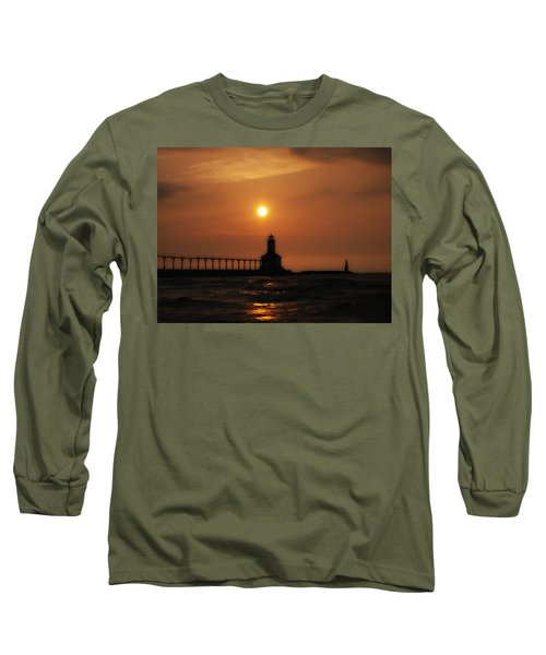 Dreamy Sunset At The Lighthouse Long Sleeve T-Shirt
