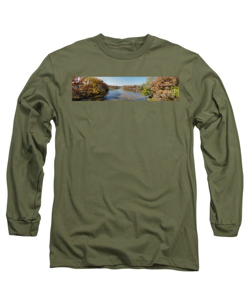 Long Sleeve T-Shirt featuring the photograph Erie Canal Panorama by William Norton