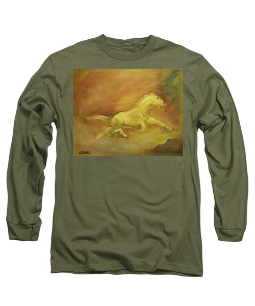Long Sleeve T-Shirt featuring the painting Escaping The Flames by George Pedro