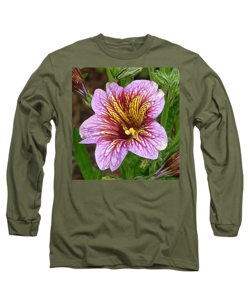 Exploding Beauty Long Sleeve T-Shirt by Wendy McKennon